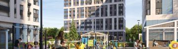 В жилом комплексе на 635 квартир завершаются фасадные работы