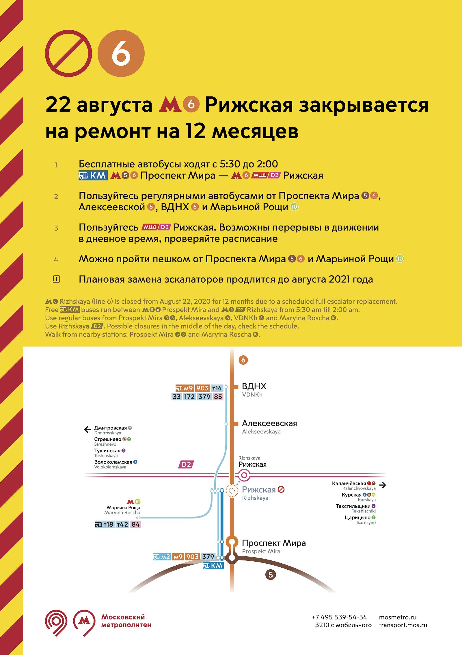 Станция метро «Рижская» закроется на год