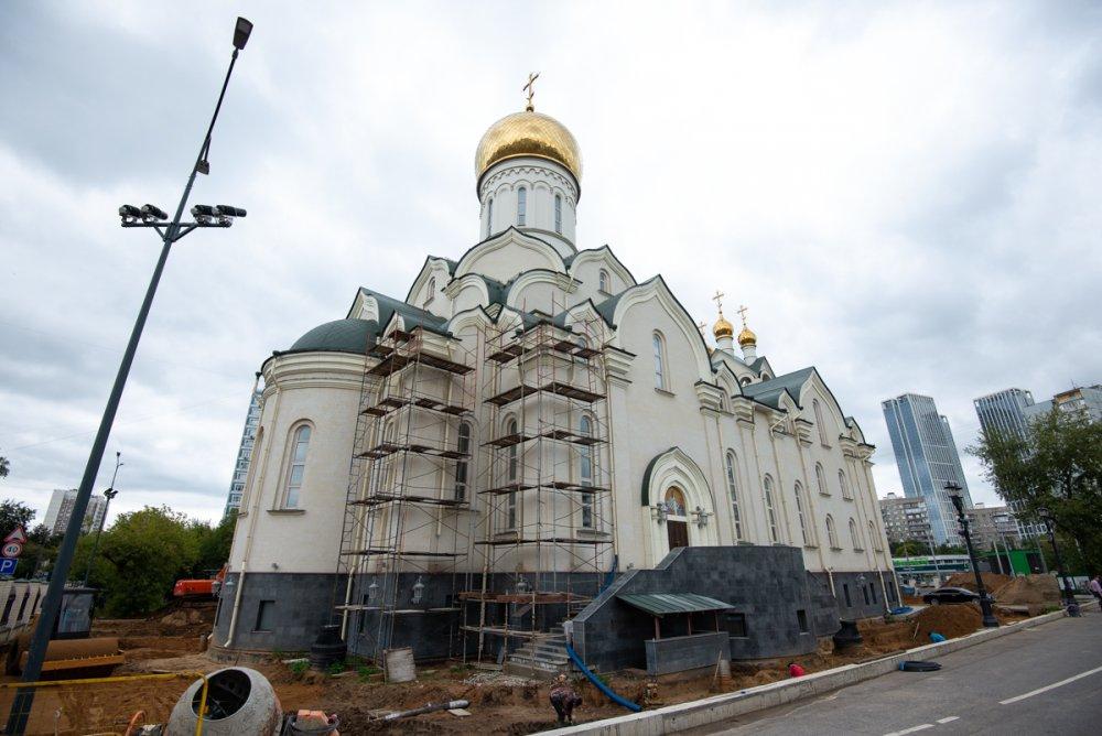 На западе столицы ведется строительство храма в честь преподобного Андрея Рублева