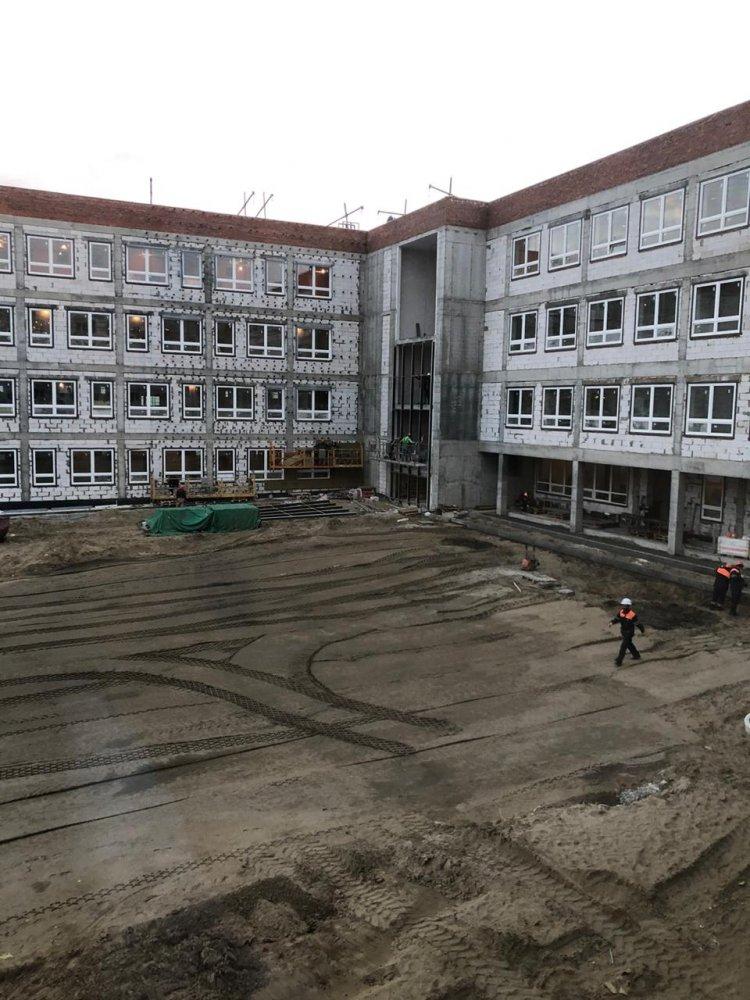Ход строительства необычной школы на 825 мест проверили в Электростали