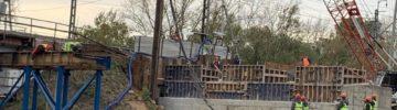 В столице начался демонтаж пролетного строения моста через реку Сходня на Волоколамском шоссе