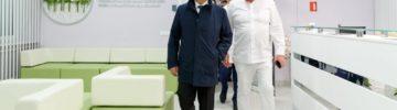 Ирек Файзуллин осмотрел ход строительства отделений НМИЦ имени академика В.И.Кулакова