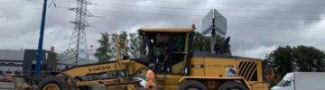 Как проходит строительство дорог в поселке Мосрентген