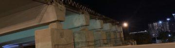 Как проходит укладка бетонного покрытия на путепроводе для соединения Юго-восточной хорды с ТТК