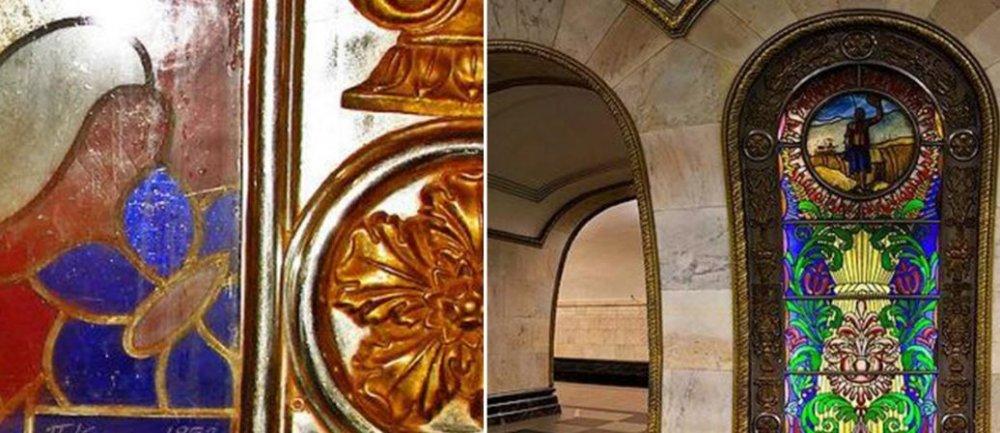 Вестибюль станции метро «Новослободская» закроют для реставрации на год