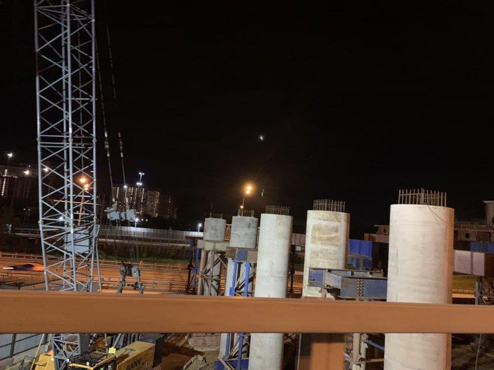 Завершено бетонирование моста через реку Лихоборку на участке СВХ