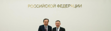 Министр строительства и ЖКХ России Ирек Файзуллин встретился с Чрезвычайным и Полномочным Послом Таджикистана в России