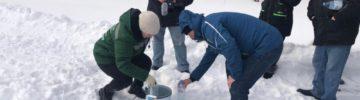Общественники рабочего штаба полигона ТКО «Ядрово» взяли на пробы очищенный фильтрат