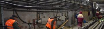 На станции «Марьина Роща» идет сооружение пересадки на «салатовую» ветку