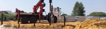 Строители приступили к монтажу каркаса здания офиса врача общей практики в Воскресенске