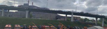 Завершено бетонирование эстакады прямого хода на пересечении Северо-Восточной хорды с проспектом Мира