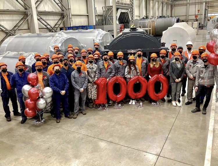 Новая веха в истории липецкого завода Viessmann: 1 000-й промышленный котёл серии Vitomax