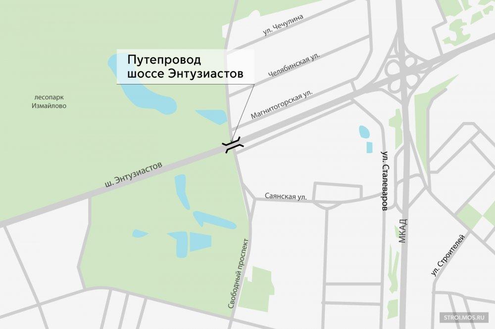 На пересечении шоссе Энтузиастов со Свободным проспектом построят эстакаду